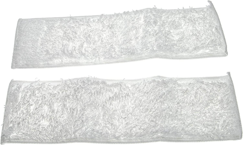 vhbw Cleaning Cloths 2-Pack Set Soft Flat Mop Pad replacement for K/ärcher 2.863-173.0 for Steam Cleaner Steam Mop