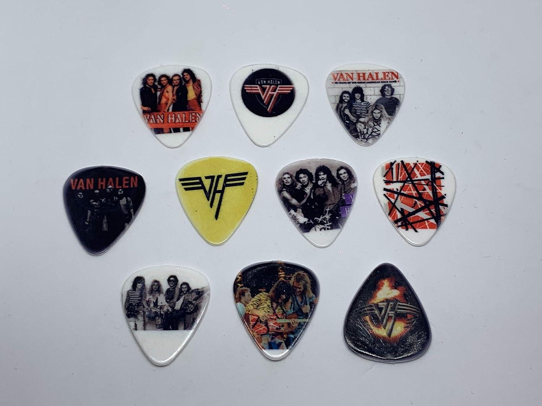 10 picks//10 diferent designs VAN HALEN Guitar Picks Set