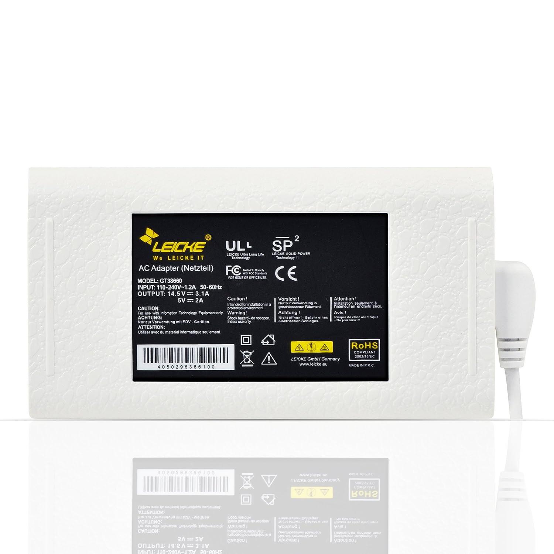 Leicke Cargador Fuente de Alimentación UltraSlim 45 W para MacBook y MacBook Air con MagSafe 1 | Puerto USB para Cargar Tablet, Smartphones | ...