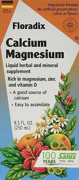 Salus-Haus, Floradix calcio - magnesio con Zinc y Vitamina D - flora: Amazon.es: Salud y cuidado personal