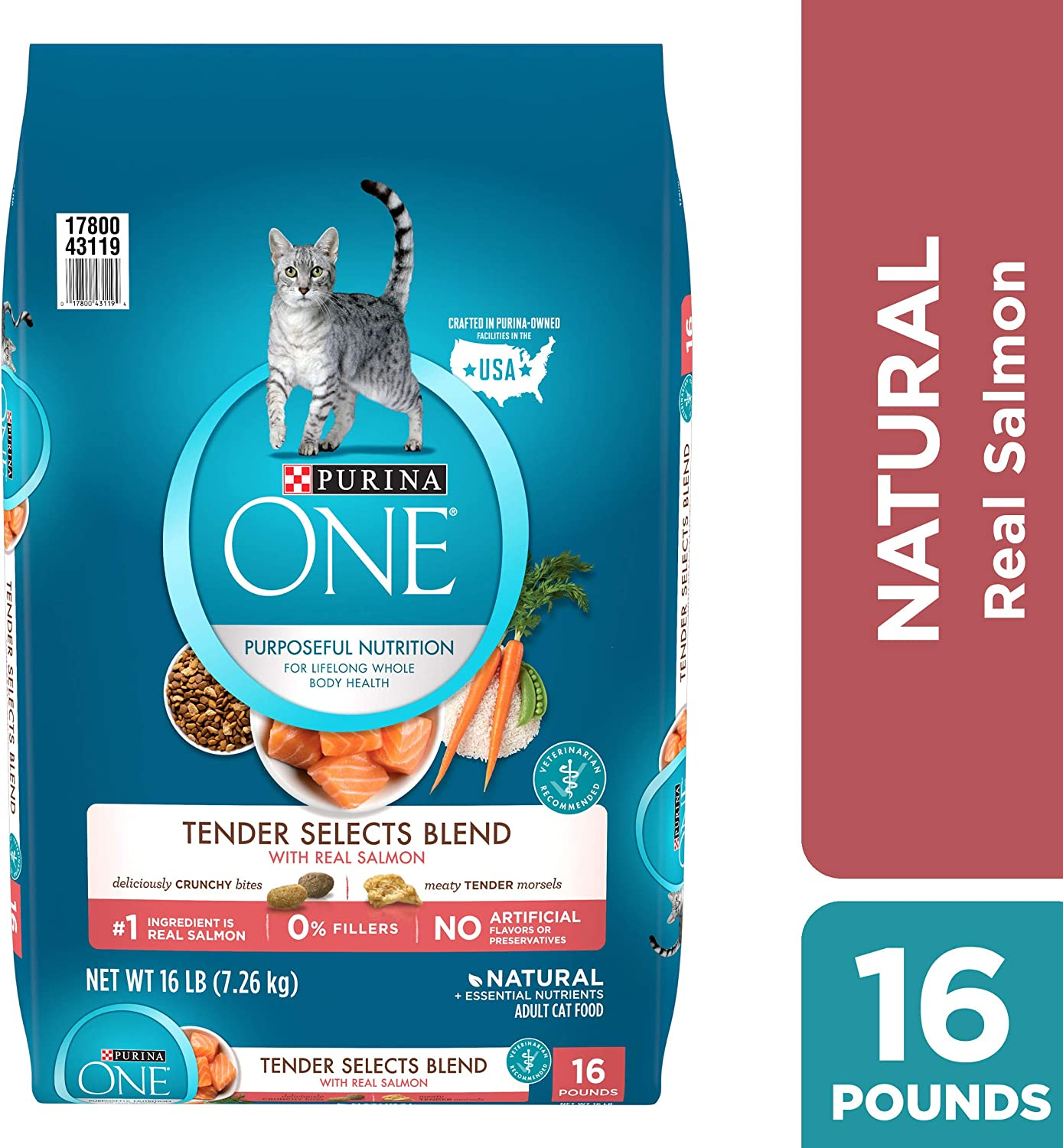 B0000AH3RR Purina ONE Tender Selects Blend Adult Dry Cat Food 81icSQYNZzL