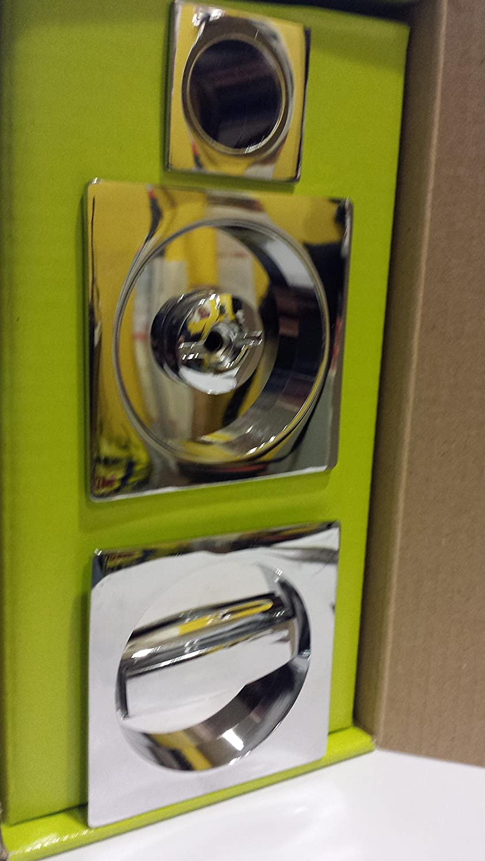 Kit para puertas correderas Scrigno cromo brillante Modelo Quadra: Amazon.es: Bricolaje y herramientas