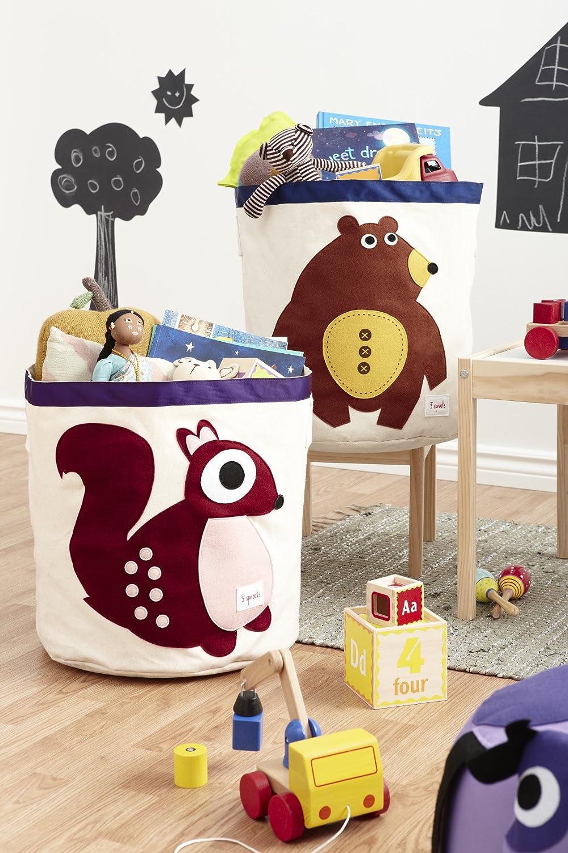 Amazon.com : 3 Sprouts Storage Bin, Squirrel : Nursery Storage Baskets :  Baby