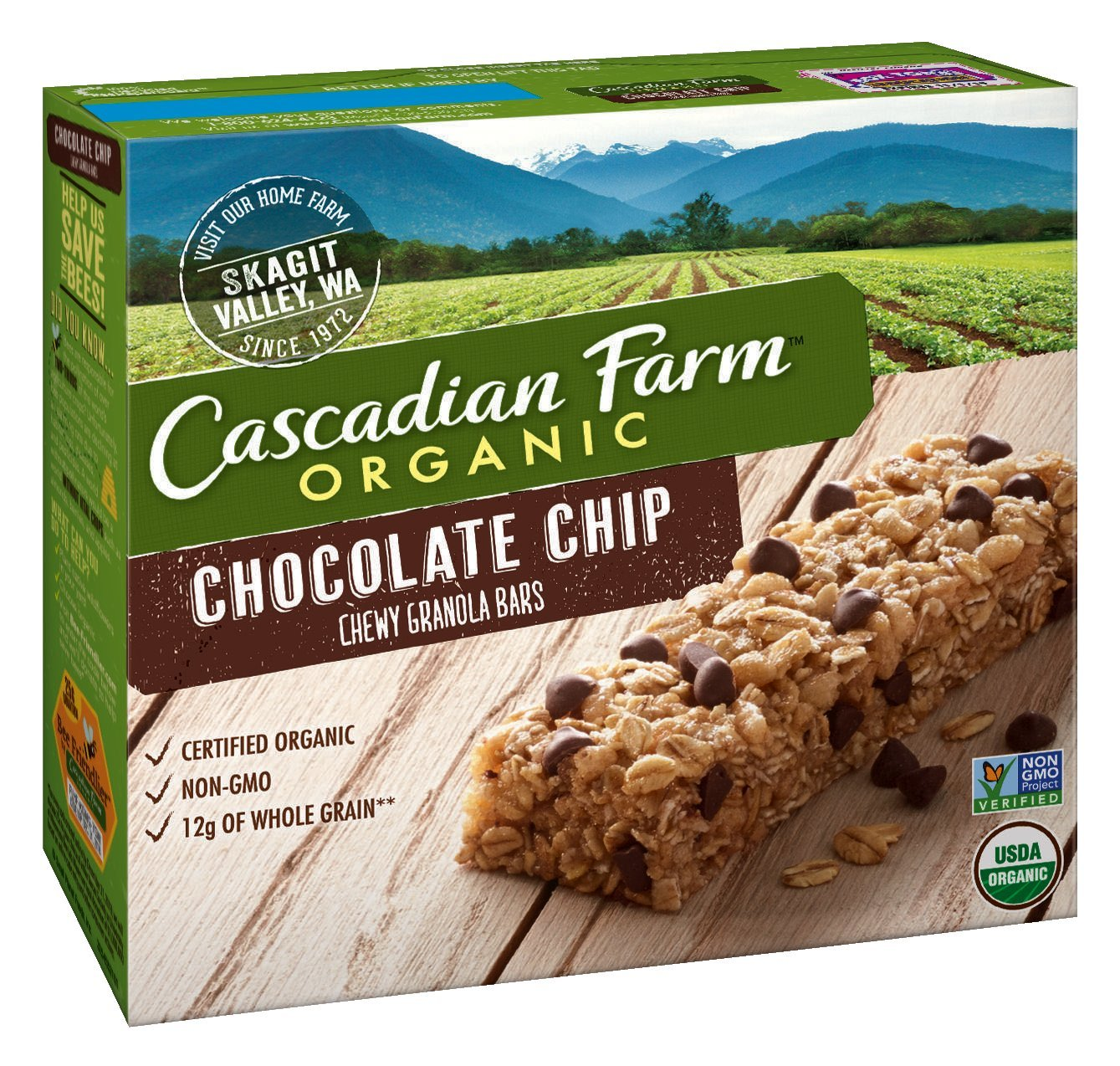 Cascadian Farm Organic Granola Bars, Chocolate Chip Chewy Granola ...
