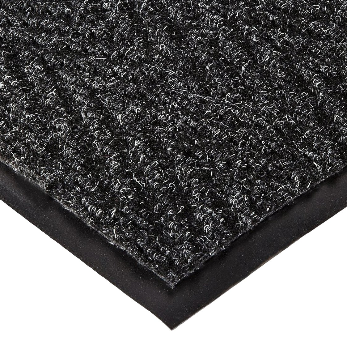 NoTrax 105 Chevron Entrance Mat, for Lobbies and Indoor Entranceways, 4' Width x 6' Length x 5/16'' Thickness, Charcoal by NoTrax