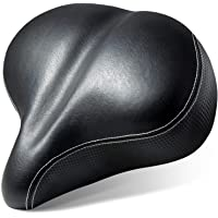 Most Comfortable Extra Large Bike Seat - Wide Oversized Bicycle Saddle with Super Thick & Soft Foam Padding and Dual…