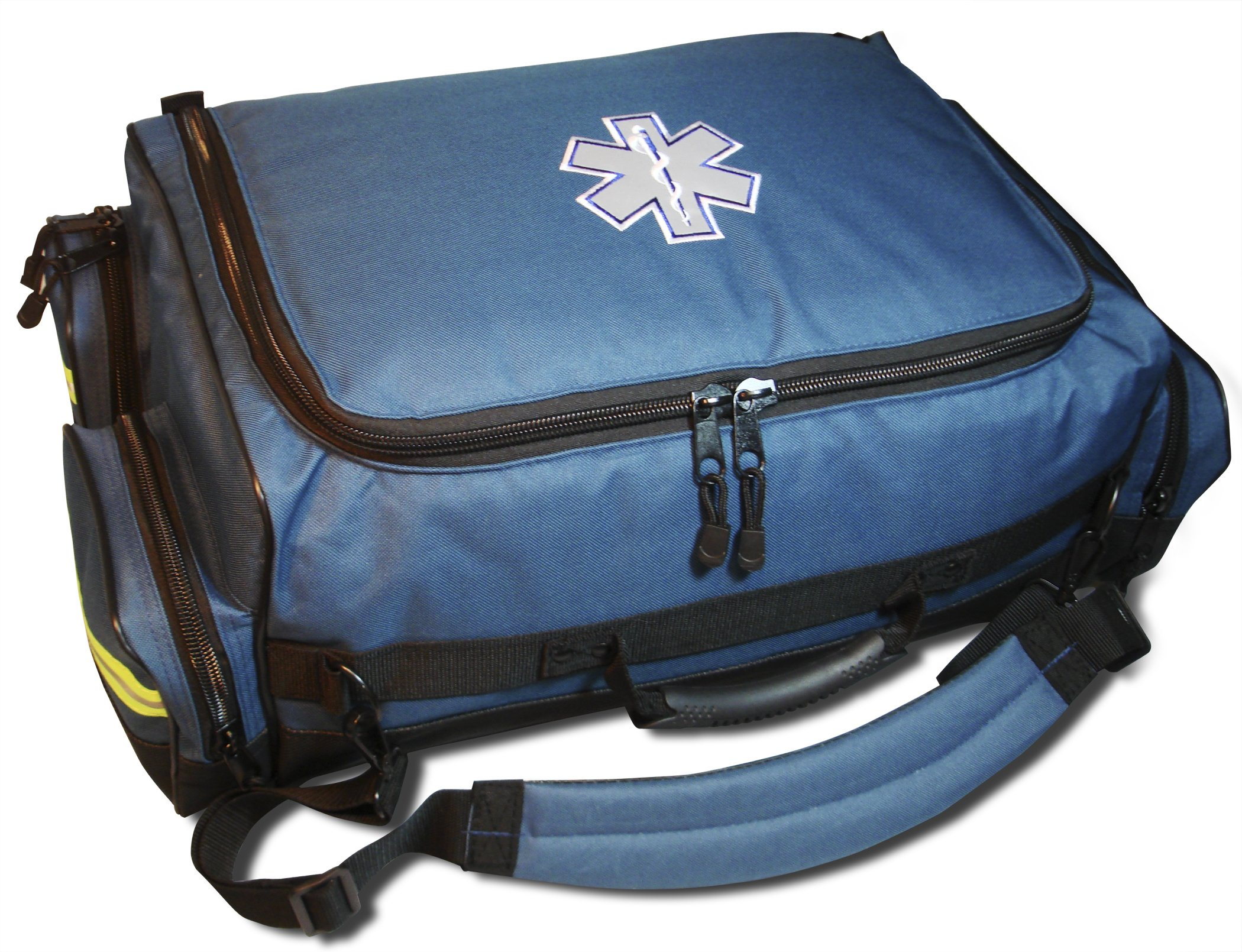 SALE! Lightning X Modular X-Tuff Oxygen Trauma Bag w/Zip-Out Cylinder Pocket & Removable Pouches - Navy Blue