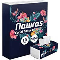 Nawras, Facial Tissues, 180X2 Ply, pack of 10 boxes