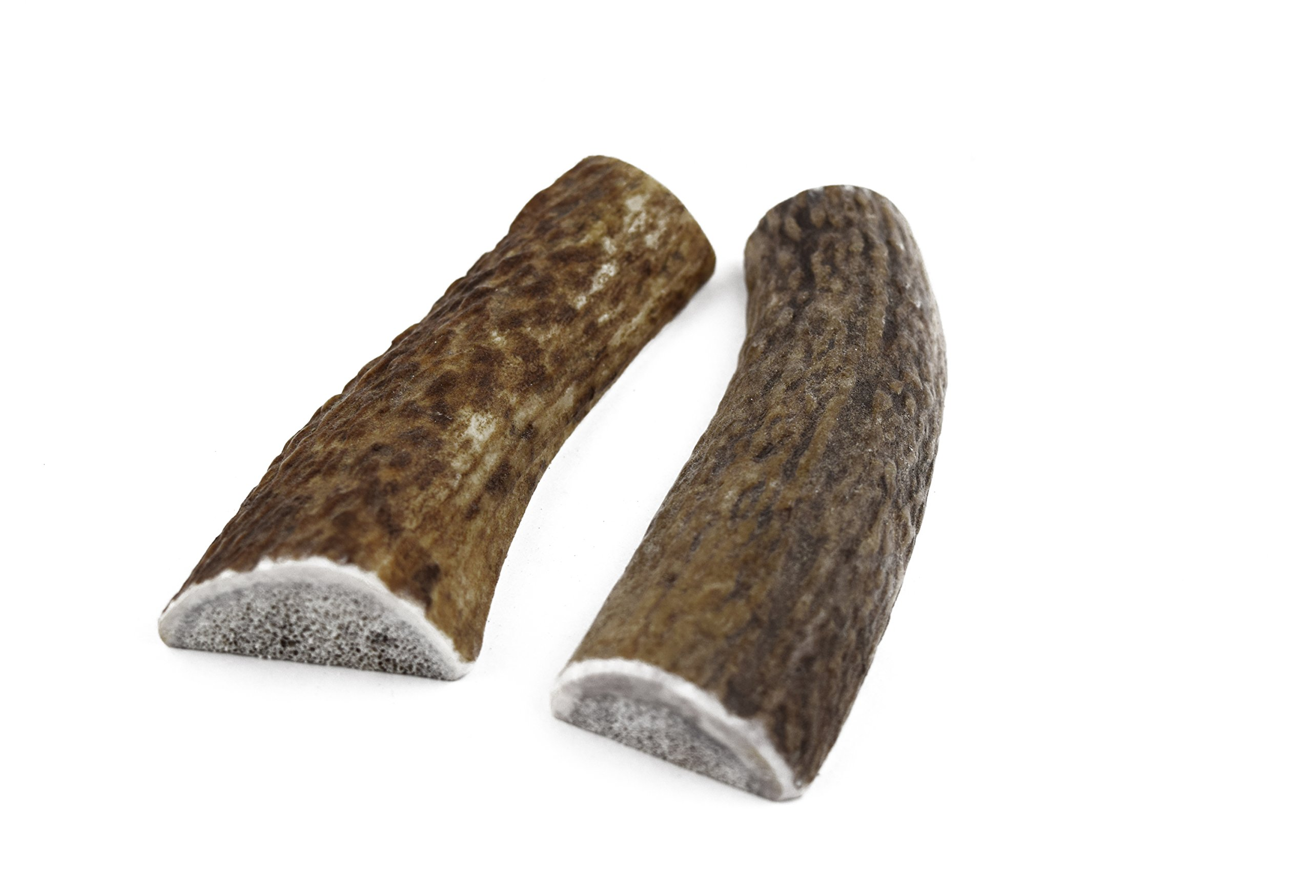 JimHodgesDogTraining Brand - Grade A Premium Quality Elk Antler Dog Chews - Small Split 2 Pack - Natural Alternative to Chew Toys, Bully Sticks, Bones, Rawhides, Himalayan, Jerky Treats - Made in USA by JimHodgesDogTraining - Grade A Antler Dog Chews (Image #5)