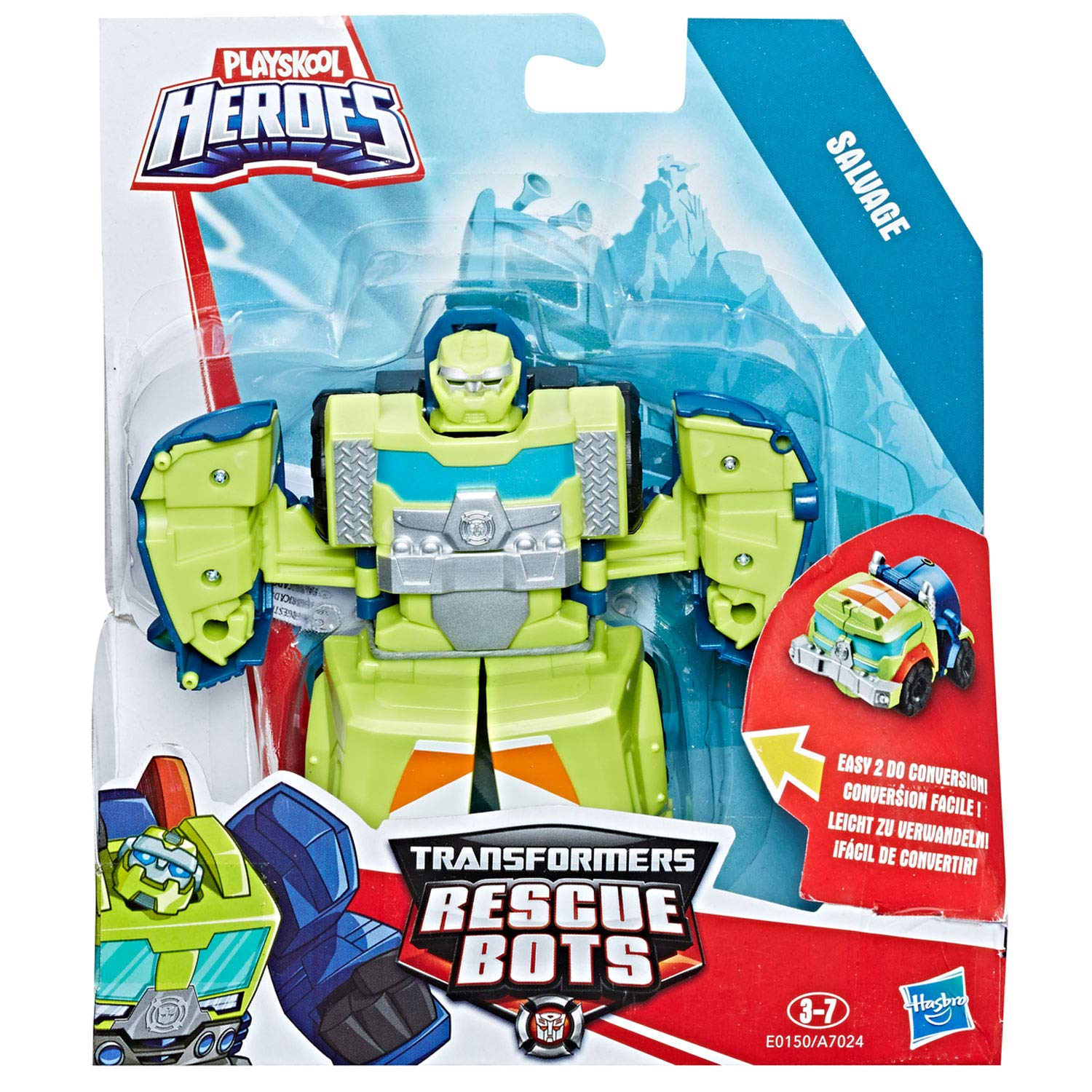 Playskool Heroes Transformateurs Rescue Bots Salvage CEMENT TRUCK