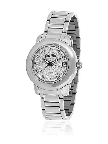 Folli Follie Reloj con Movimiento Miyota WF9T015BTS Plateado 35.00 mm: Amazon.es: Relojes