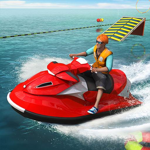 Jet Ski Stunts : Challenging Crazy Water Boat Surfing Sports Sea Beach 3D Game Simulator