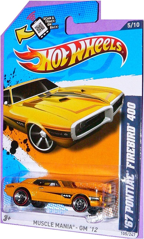 2012 Hot Wheels Muscle Mania GM /'67 Pontiac Firebird 400 #105 RED LINES