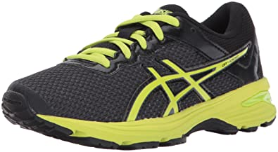 ASICS Unisex-Kids GT-1000 6 GS Running Shoe, Black/Energy Green