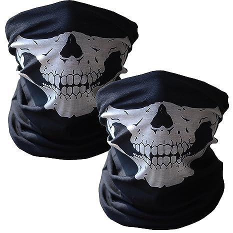 b45b75b60840 Masque Squelette Masques de crâne Écharpes de Balaclava crâne Bandanas  Masques Crâne Poussière Protection Tubulaire Masque
