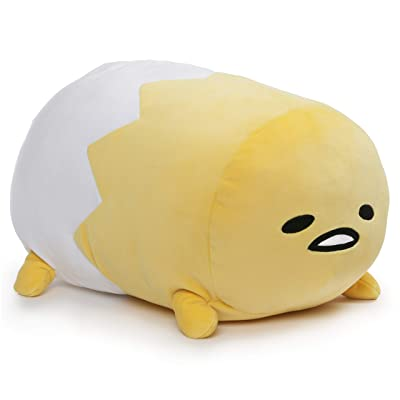 "GUND Gudetama Laying Down Lazy Egg in Shell Sanrio Plush, Yellow, 16"": Toys & Games"