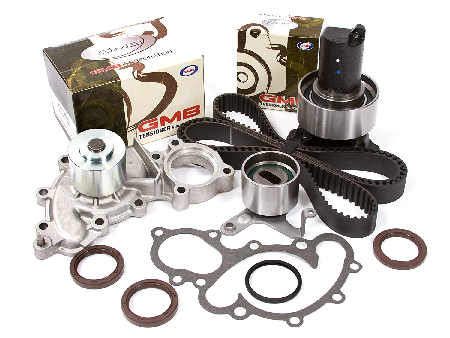 Evergreen TBK154WPT2 Fits 88-92 Toyota 4Runner Pickup 3.0 SOHC 3VZE Timing Belt Kit Water Pump without outlet pipe