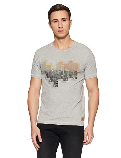 fa3b3534a2 LP Jeans By Louis Philippe Men s T-Shirt  (8907545312501 LRKC317R04622 Medium Medium Grey Solid)