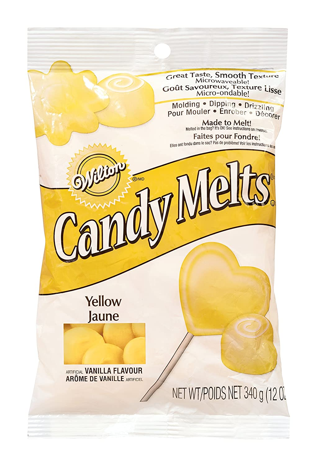 Wilton 2201-1411 Candy Melts Baking Tool, 12-Ounce, Yellow