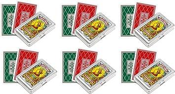 Outletdelocio. Pack de 6 Baraja española Fournier. 40 Cartas. En Estuche de plástico: Amazon.es: Juguetes y juegos