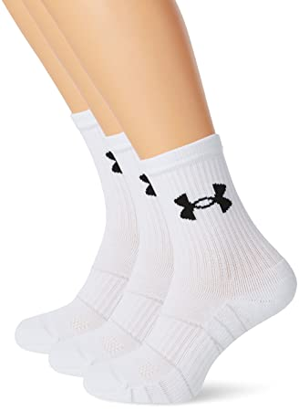 Under Armour UA Elevated Perform MIDCREW Calcetines, Hombre, Blanco, M: Amazon.es: Deportes y aire libre