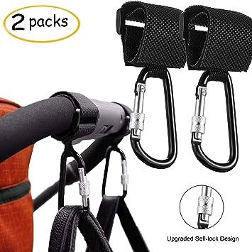 2x Buggy clips couleur grand Landau Poussette Shopping Bag Hook momie Transporter Clip