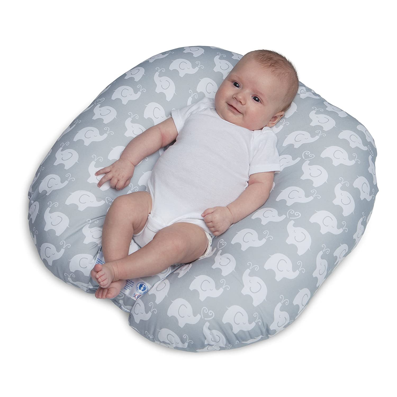 Boppy Newborn Lounger, Elephant Love Gray 4300116K 2PK