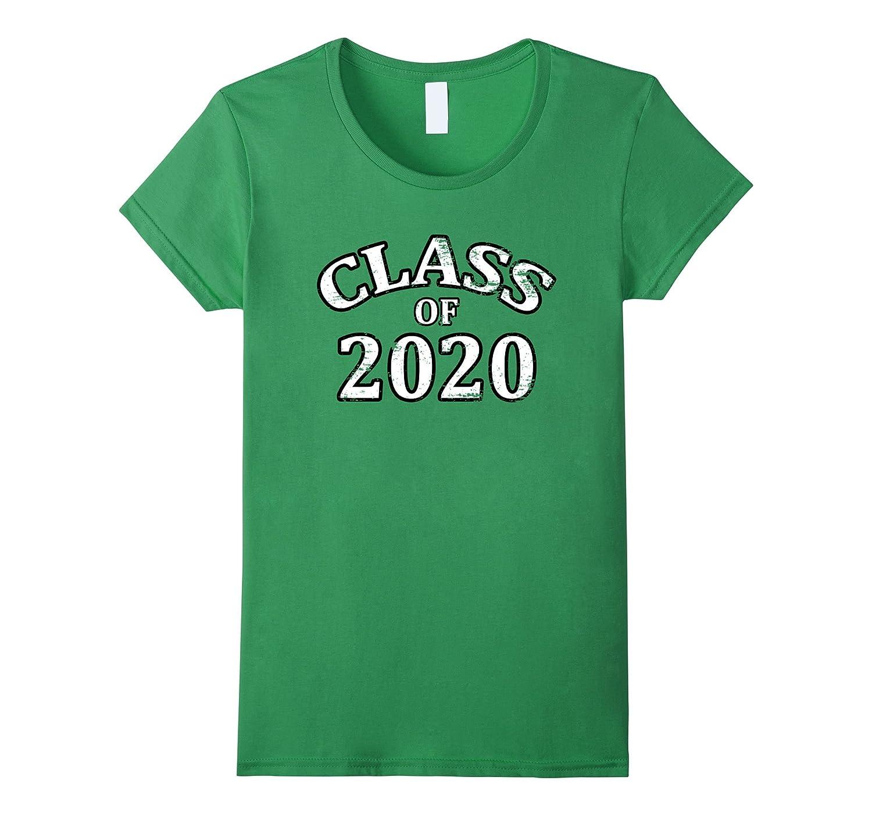 CLASS of 2020 Distressed Jersey Style Graduation Tee Shirt