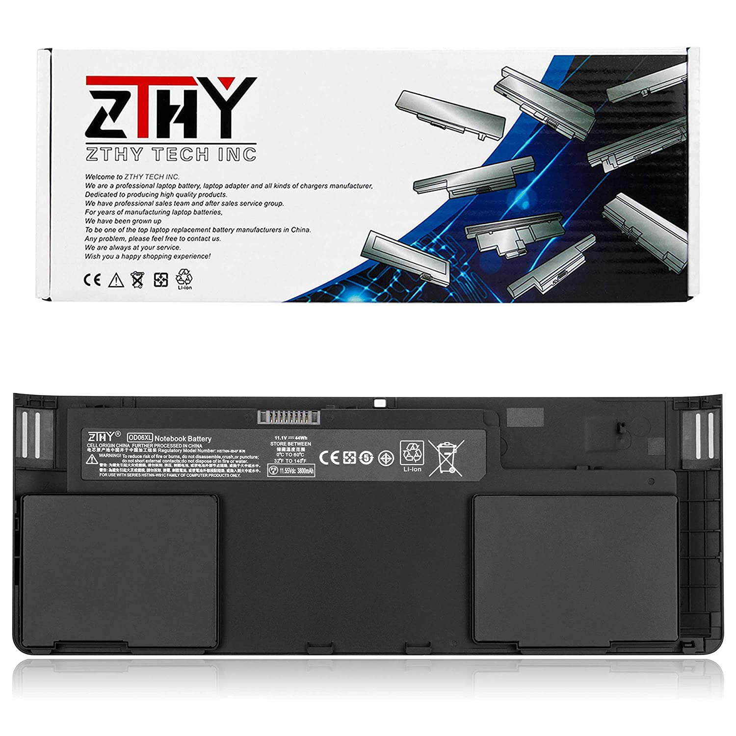 ZTHY Compatible OD06XL Laptop Battery Replacement for Hp Elitebook Revolve 810 G1 G2 G3 Series Tablet 0D06XL OD06 698750-171 698750-1C1 698943-001 H6L25AA ...