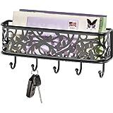 interdesign vine wandaufbewahrung f r post und schl ssel ablagesystem mit briefkorb und. Black Bedroom Furniture Sets. Home Design Ideas