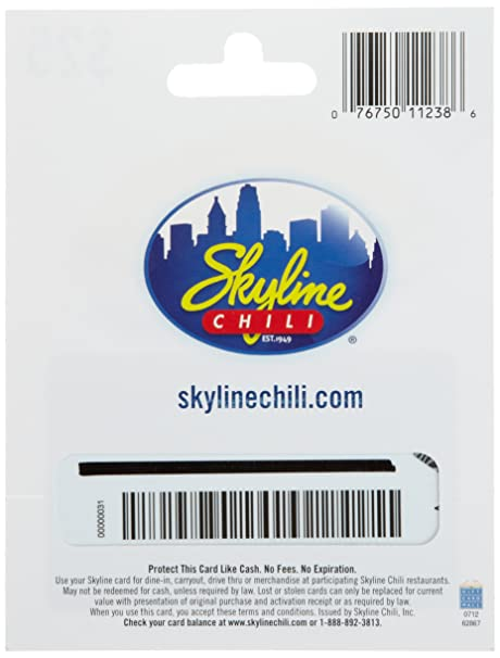 Amazon.com: Skyline Chili Gift Card $25: Gift Cards
