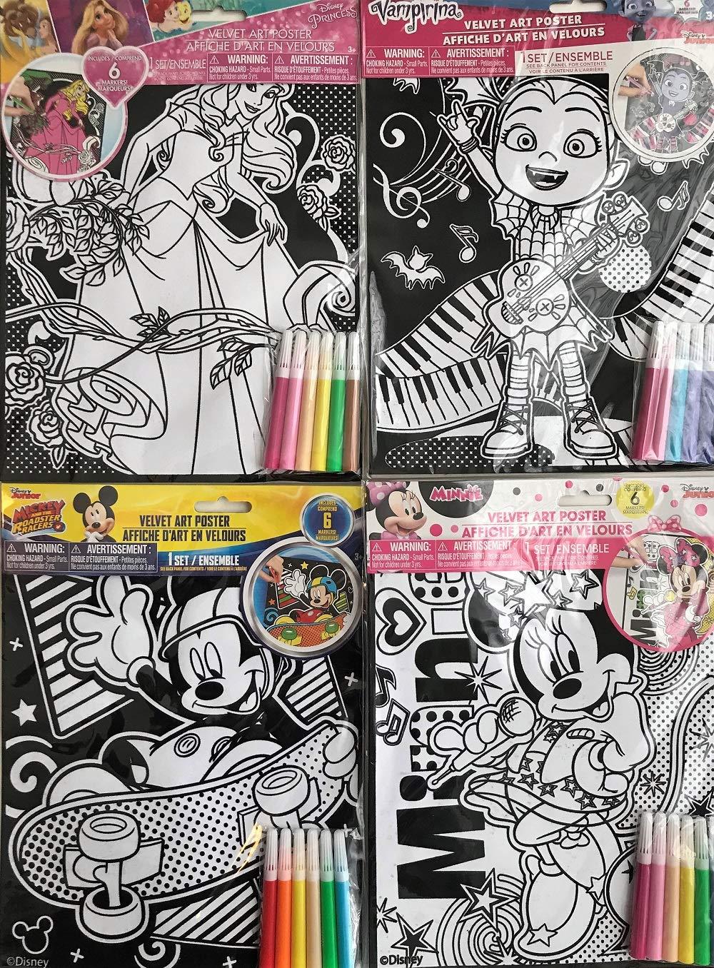 8-ct Set GBI Disney Cartoon Characters Velvet Poster Art Kits