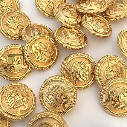 GOLD DOMED METAL BLAZER BUTTONS METAL 20mm