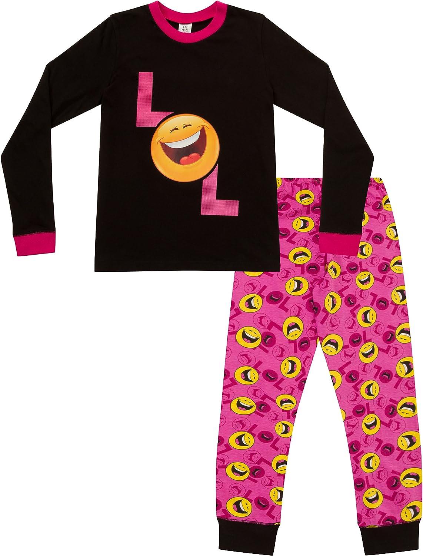 pigiama a maniche lunghe et/à 9-15/anni Pigiama da ragazza con smiley Emoji LOL Laugh out Loud e scritta