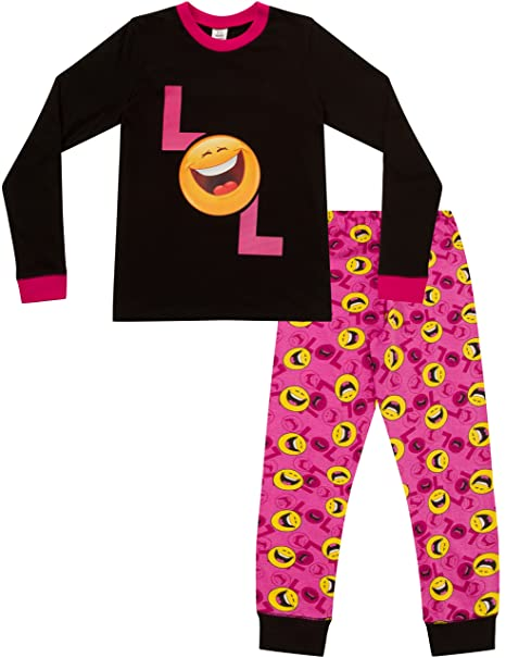 Pijama para niñas con LOL Smiley Laugh Out Loud, estilo emoticón