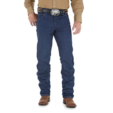 f10e8895 Image Unavailable. Image not available for. Color: Wrangler Men's Premium  Performance Cowboy Cut Regular Fit Jean, Prewashed, 29W x 32L