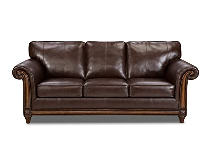 Attrayant Simmons Upholstery 8001 03 San Diego Coffee Bonded Leather Sofa