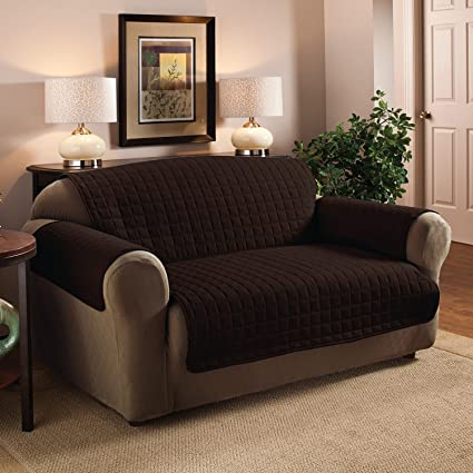 Fine Sweet Home Collection Luxury Furniture Protector With Quilted Design Preserves Sofa Loveseat Chair Sofa Chocolate Alphanode Cool Chair Designs And Ideas Alphanodeonline