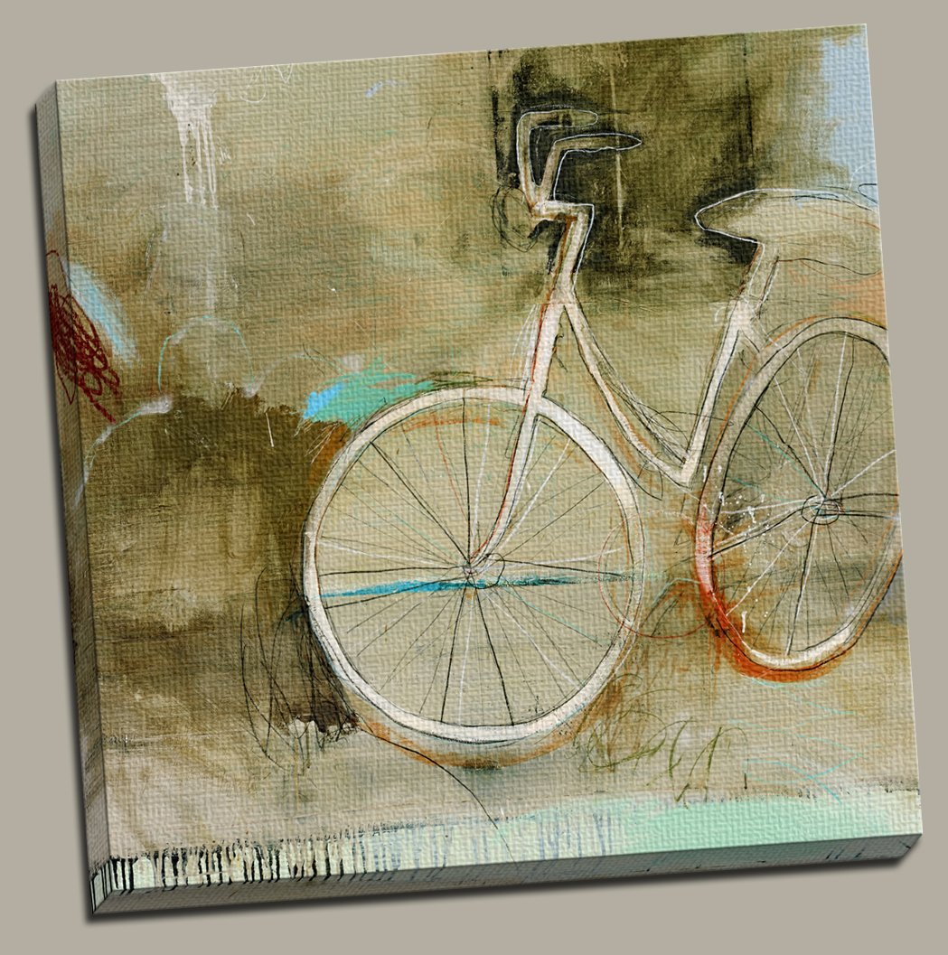Amazon.com: Portfolio Canvas Decor Large Printed Canvas Wall Art Painting,  35 X 35 Inch, Cozy Bike, Framed And Stretched Ready To Hang: Posters U0026  Prints