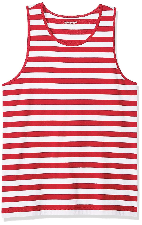 Essentials Mens Slim-fit Stripe Tank Top