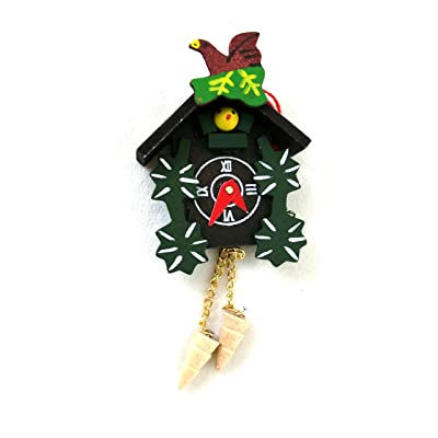 Town Square Miniatures Dolls House Miniature Accessory Painted Cuckoo Clock 65: Toys & Games