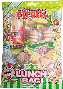 efrutti Gummi Lunch Box Sour Gummy Candy, 2.7 Ounce
