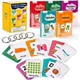 teytoy Multi Flash Cards Set, Early Learning ABC Flash Cards Educational Flashcards for Toddlers 2-4 Years- 5 Pack- Alphabets