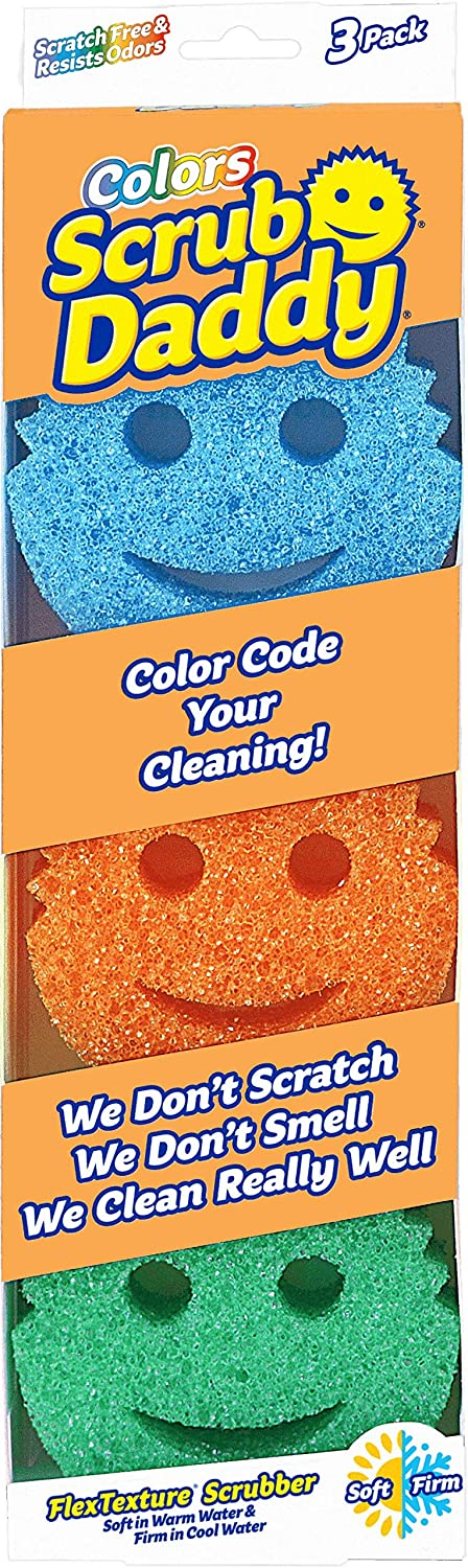 Scrub Daddy - Scratch Free Color Sponge with Flex Texture (3 Pack)