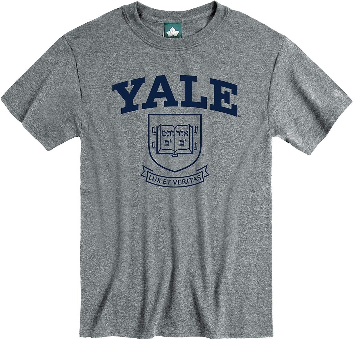 Cotton Poly Blend NCAA Colleges Ivysport Short Sleeve T-Shirt Heritage Logo Grey