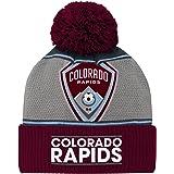 Outerstuff Boys MLS Youth Boys Fan Cuffed Pom Hat R S805T AA