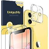 UniqueMe [2 Pack] Protector de Pantalla para iPhone 11 [6.1 inch] + [1 Pack] Protector de Lente de cámara para iPhone 11…