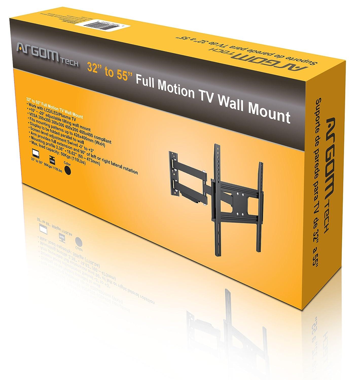 Amazon.com: Argom 32-55 inch Full Motion TV Wall Mount: Home Audio ...