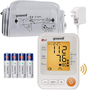 Automatic Blood Pressure Monitor Upper Arm, Large Cuff Kit, Accurate Bp Machine Pulse Irregular Heart Rate, Electronic and Talking High Blood Pressure Machine for Adult Home Use
