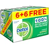 Dettol Original Bar Soap - Pack of 12 Pieces (12 x 120 g)
